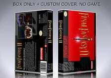 FINAL FANTASY 2. NTSC VERSION. Box/Case. Super Nintendo. BOX + COVER. (NO GAME).