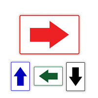 Arrow Direction Left Right Down Up Metal Aluminum Sign