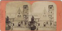 Dijon la Iglesia St. Jean Francia Foto Neurdein Estéreo Vintage Albúmina c1875