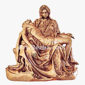 """"""" Pieta Michelangelo """" Orthodox Wooden Carved Statue"""
