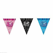 12ft Glitz Prism Banner Triangle Flag Bunting Banner Unique Party Decorations