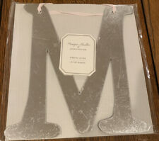 NEW Pottery Barn Kids Monique Lhuillier Hanging Ribbon Silver Shiny Letter M