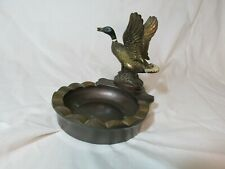 Desk Tray, Brass, Vintage, with Duck, Fabulous!