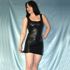 nass glänzendes LACKKLEID* S-M 40 wetlook Minikleid* schwarzes Gothic Partykleid