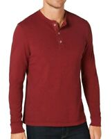 Club Room NEW Carriage Red Mens Size Small S Long Sleeve Henley Shirt $49 #102