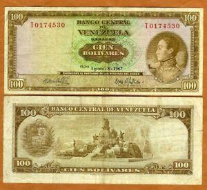 Venezuela, 100 Bolivares, 8-8-1967, P-48e, F