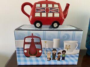 Vintage Dakota Routemaster Teapot Bus - Red London Bus - in original box