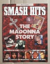 2 MADONNA Smash Hits Magazines 21 May - 17 June 1986 Cover and articles only
