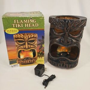 Flaming Tiki Head Party Luau Beach Patio Light Decoration By Amscan In Box