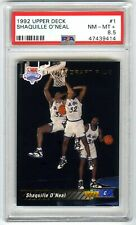 SHAQUILLE O'NEAL~1992 UPPER DECK #1 NBA DRAFT PICK PSA-8.5 NM/MT+ ROOKIE RC CARD