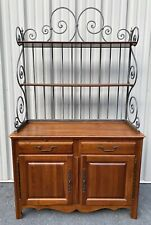Ethan Allen Country French / Legacy Baker's Rack Buffet Sideboard w/ Rack Maison