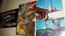 Postcard Feeding Time Marineland Florida and 2 other Dolphin cards 1 used