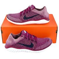 Nike Free RN Flyknit 2018 Raspberry Red Women's Running Shoes Run 942839 600