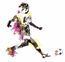 "WOMEN'S SOCCER PLAYER sports wall stickers MURAL 21 decals ball 34"" party decor"