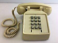 Vintage Tan Push Button Desk Top Phone by Premier