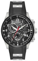 Citizen Eco-Drive Men's PCAT Atomic Chronograph Black 44mm Watch AT4138-05E