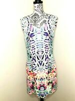 PORTMANS Bright Animal Floral Size 14 Fit & Flare Lined Party A Line Midi Dress