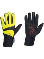 Northwave Sonic Long Finger Winter Handschuhe L 21-22 cm Schwarz Gelb