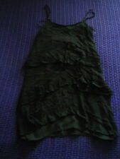 Topshop smart black short dress/long top ruffles size 4 VGC Flattering