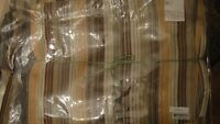 Ann Gish Ready To Bed Autumn Stripe Silk  King Duvet Cover Set 4pc  New
