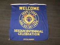 """VINTAGE 35"""" X 34"""" 1809-1959 SCHENECTADY COUNTY SESQUICENTENNIAL OFFICIAL BANNER"""