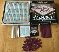 SCRABBLE DELUXE EDITION 1989 CROSSWORD TURNTABLE GAME EXCELLENT COND- COMPLETE!