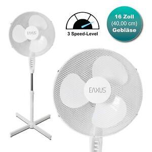 Standventilator 40cm mit 3 Geschwindigkeiten Lüfter Flügel Ventilator Kühler
