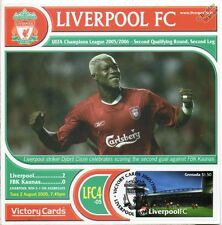 Liverpool 2005-06 FBK Kaunas (Djibril Cisse) Football Stamp Victory Card #504