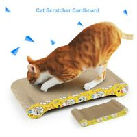 2 Pack Cat Scratching Corrugated Board Scratcher Bed Pad Lounge with Catnip US