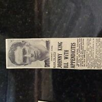 M1e ephemera 1940s article leicester city johnny king ill
