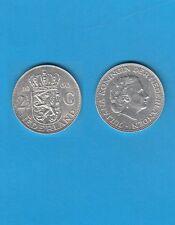 § PAYS-BAS NETHERLANDS 2,50 Gulden  1960  Silver Coin