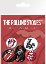 The Rolling Stones Button Badge Badges Set of 6 Official Licensed Fan Gift