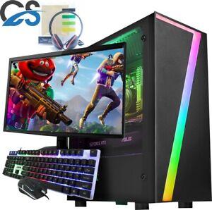 Fast Gaming PC Computer Bundle Core i5 8GB 240GB SSD Windows 10 Nvidia GT1030
