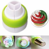3-Color Icing Piping Bag Russian Nozzle Tips Adapter Coupler Cake Decor Tool AL