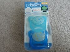 NEW SET OF 2 DR BROWN'S 6-12 MONTH PACIFIERS – GLOW IN THE DARK