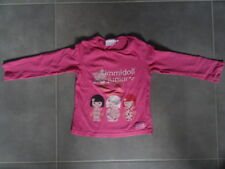 T-shirt manches longues rose KIMMIDOLL Taille 5 ans