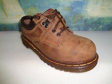 Vintage Dr Doc Martens steel-toe Boots Brown Leather UK 5 /US 7 Women's/Men 8