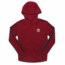 Boy's Adidas Originals Junior Cinta Lana Forrada Sudadera con capucha en rojo