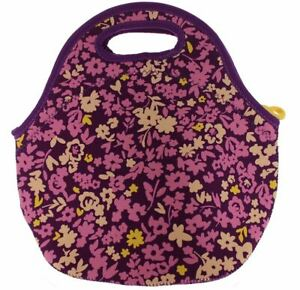 Built NY Gourmet Getaway Durable Insulated Neoprene Lunch Tote LIB Floral Purple