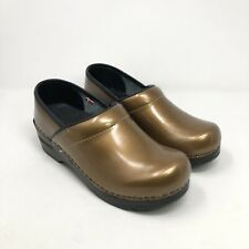 Sanita Professional Metalic Gold Slip on Mule Clogs Women's Sz Eu 36 US 5.5-6
