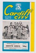 ORIG. PRG EC 2 1976/77 Cardiff City FC-Servette Ginevra!!! MOLTO RARO