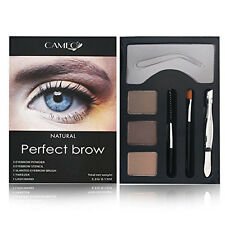 Cameo Perfect Brow Natural Eyebrow Powder Stencil Slanted Brush Tweezer Wand