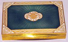 AUSTRIA GREEN ,WHITE & GOLD ENAMEL BRONZE BOX  SIGNED CIRCA 1900 GORGEOUS DESIGN