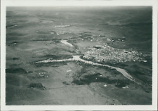Algérie, Vue aérienne du M'Zab Vintage silver print. Le Mzab ou M'zabg