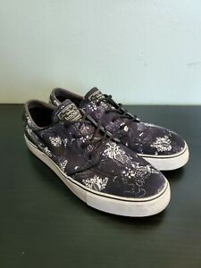 Mens Nike SB Stefan Janoski Black Floral Canvas Size 10.5 NO INSOLES