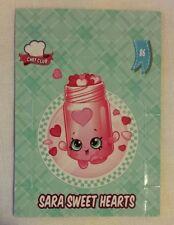 Shopkins Season 5-6 Collector Card 86 Sara Sweet Hearts Pop Up Card - Free Post