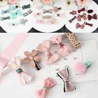 8Pcs/set Kids Baby Girl Hair Clip Bow Flower Mini Barrettes Hair gg Hairpin Q7T9