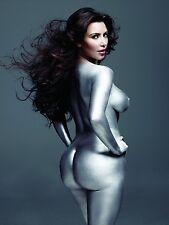 Kim Kardashian Movie Actor Star Fabric Art Cloth Poster 17inch x 13inch Decor 37