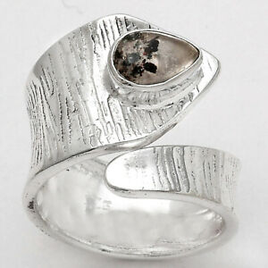 Adjustable - Lepidocrocite In Quartz 925 Sterling Silver Ring s.6.5 Jewelry E561