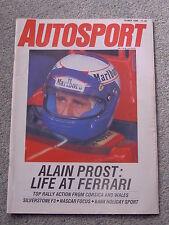 Autosport (10 May 1990) Alain Prost at Ferrari, NASCAR, Mika Salo Silverstone F3